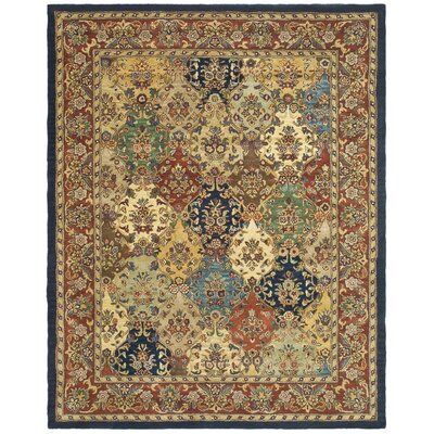 Balthrop Multi/Red Area Rug Rug Size: 11' x 15'