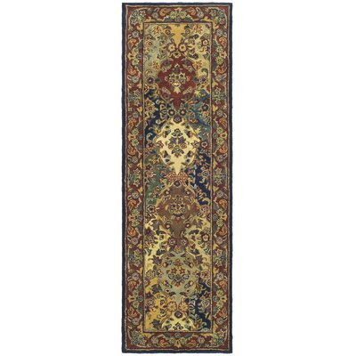 Balthrop Multi/Burgundy Area Rug Rug Size: Runner 23 x 12