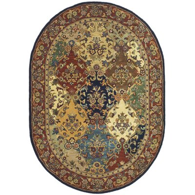 Balthrop Wool Hand Tufted Area Rug Rug Size: Oval 76 x 96