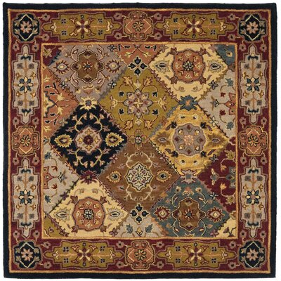 Balthrop Hand-Tufted Red Rug Rug Size: Square 8