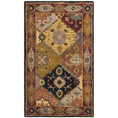 Balthrop Yellow/Red Rug Rug Size: 6' x 9'