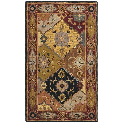 Balthrop Yellow/Red Rug Rug Size: 3 x 5