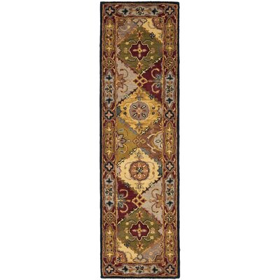 Balthrop Yellow/Red Rug Rug Size: Runner 23 x 12