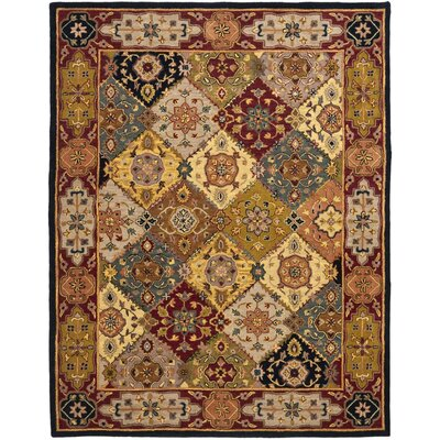 Balthrop Yellow/Red Rug Rug Size: 12 x 18