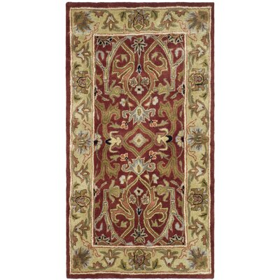 Balthrop Yellow Area Rug Rug Size: Rectangle 76 x 96