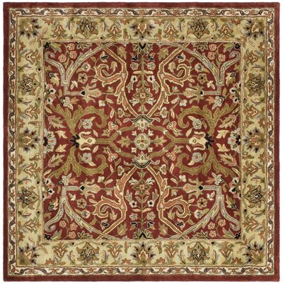 Balthrop Yellow Area Rug Rug Size: Square 6