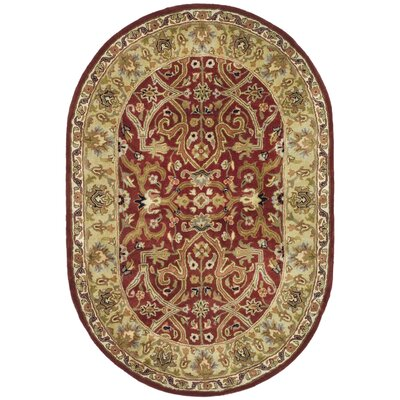 Balthrop Yellow Area Rug Rug Size: Oval 76 x 96