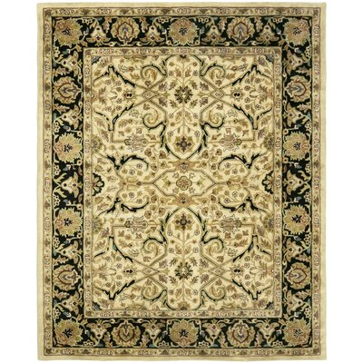 Balthrop Ivory/Black Area Rug Rug Size: Rectangle 5 x 8