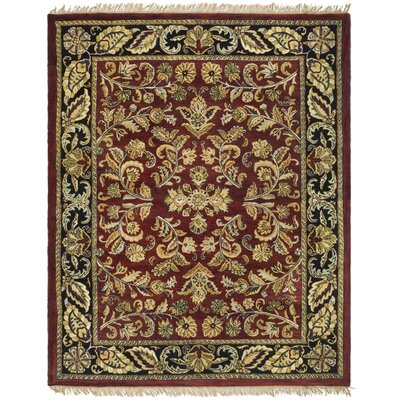 Balthrop Red/Ivory Floral Area Rug Rug Size: 8 x 10