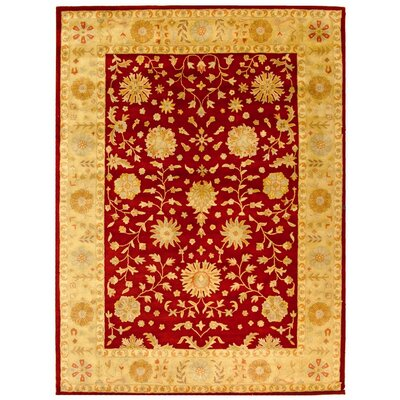 Balthrop Red/Gold Floral Area Rug Rug Size: 9'6