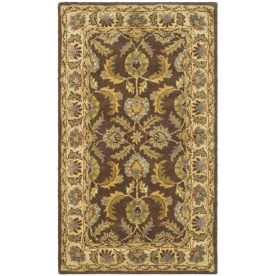 Balthrop Brown/Ivory Rug Rug Size: Rectangle 4 x 6