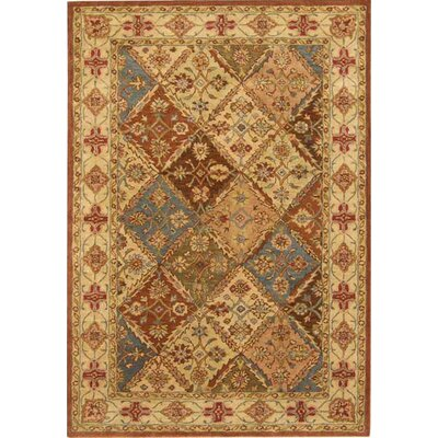Balthrop Beige Floral Area Rug Rug Size: Rectangle 76 x 96