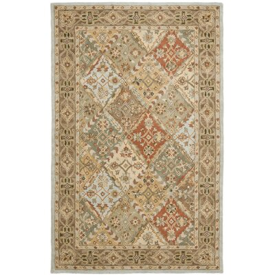 Balthrop Light Blue/Light Brown Rug Rug Size: 6 x 9