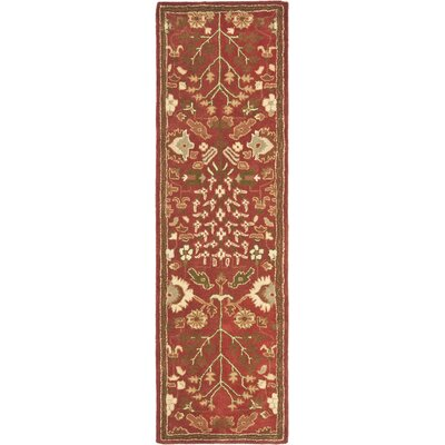 Balthrop Red Floral Area Rug Rug Size: Runner 23 x 12