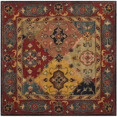 Balthrop Red Area Rug Rug Size: Square 6