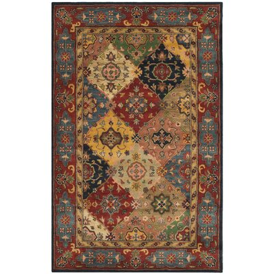 Balthrop Red Area Rug Rug Size: 5 x 8