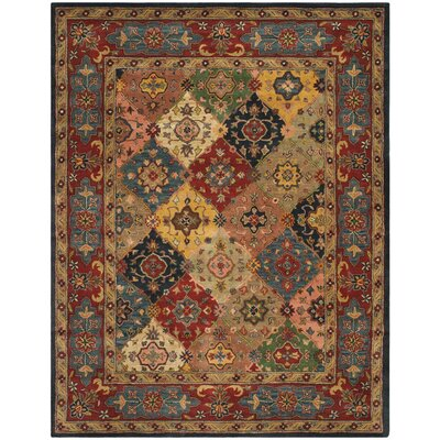 Balthrop Red Area Rug Rug Size: Rectangle 8' x 10'