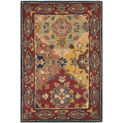 Balthrop Red Area Rug Rug Size: 2 x 3