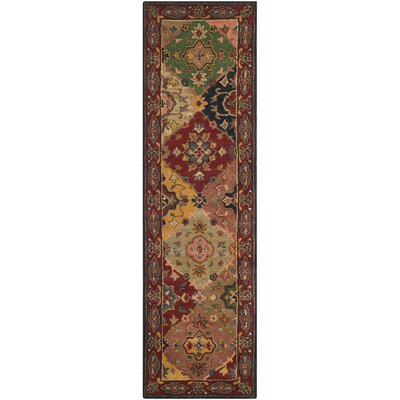 Balthrop Red Area Rug Rug Size: Runner 23 x 12