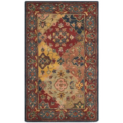 Balthrop Red Area Rug Rug Size: 4 x 6