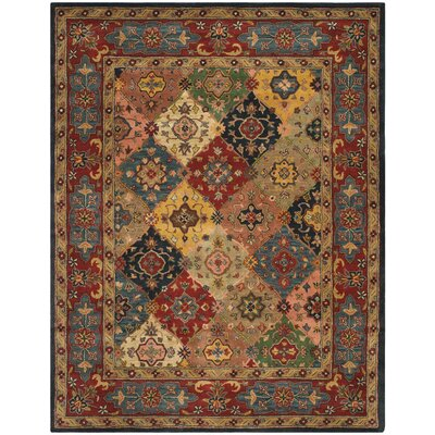 Balthrop Red Area Rug Rug Size: 76 x 96