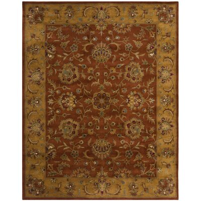 Balthrop Brown/Yellow/Brick Red Area Rug Rug Size: Rectangle 9 x 12