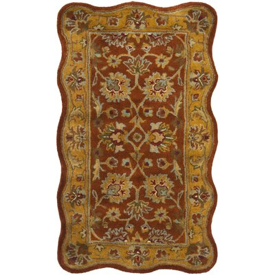 Balthrop Red Area Rug Rug Size: Rectangle 23 x 4
