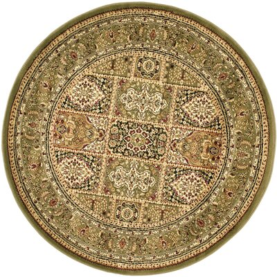 Barton Brown Area Rug Rug Size: Round 8