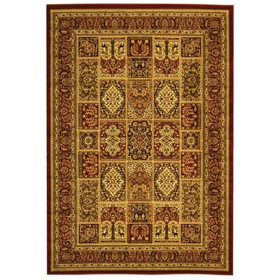 Barton Red Area Rug Rug Size: Rectangle 6' x 9'