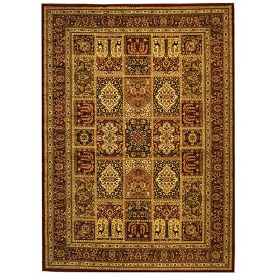 Barton Red Area Rug Rug Size: 79 x 109