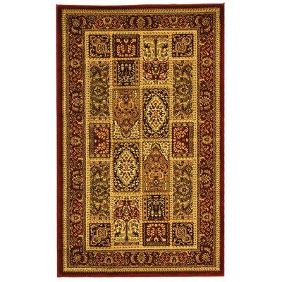 Barton Red Area Rug Rug Size: 4' x 6'
