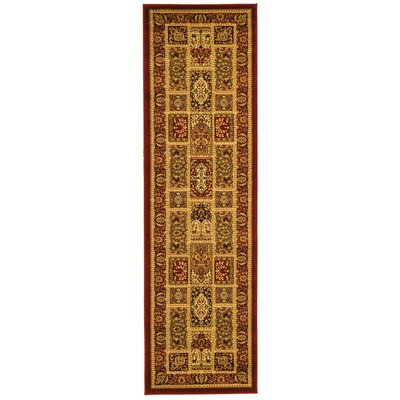 Barton Red Area Rug Rug Size: Runner 23 x 20
