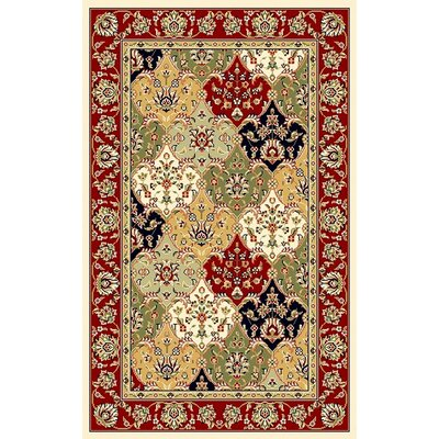 Barton Red/Ivory Area Rug Rug Size: Rectangle 79 x 109