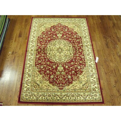 Barton Red/Ivory Rug Rug Size: Rectangle 33 x 53