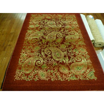 Barton Red Area Rug Rug Size: Rectangle 9 x 12