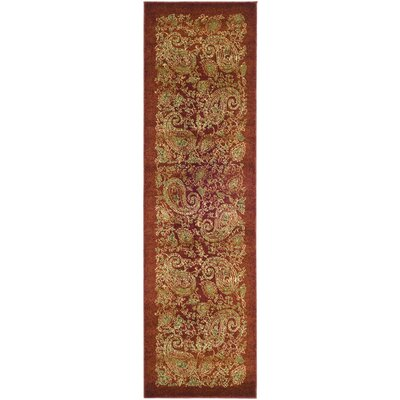 Barton Red Area Rug Rug Size: Runner 23 x 8