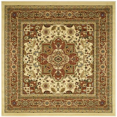 Barton Ivory Area Rug Rug Size: Square 10