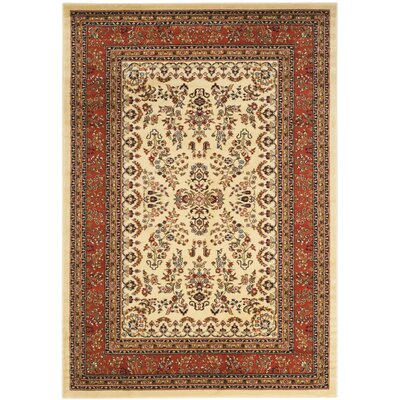 Barton Rust/Ivory Area Rug Rug Size: Rectangle 53 x 76