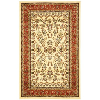 Barton Rust/Ivory Area Rug Rug Size: Rectangle 3'3