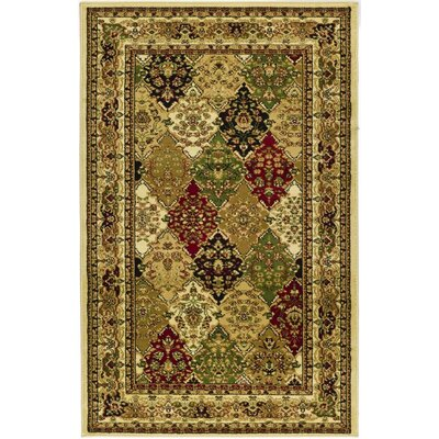 Barton Multi/Ivory Area Rug Rug Size: Rectangle 9 x 12