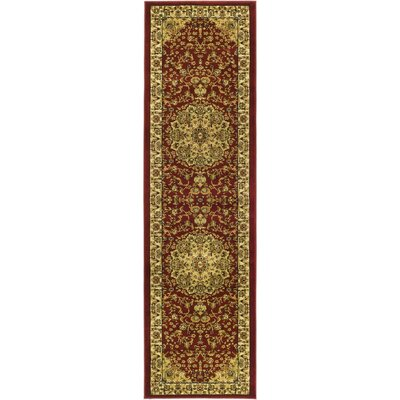 Barton Red/Ivory Rug Rug Size: 6 x 9