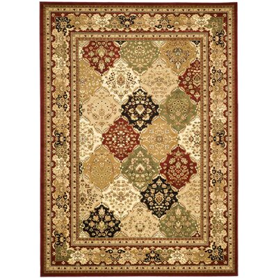 Barton Multi/Red Rug Rug Size: 4 x 6