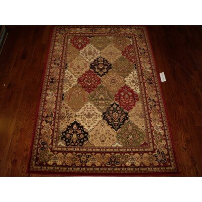 Barton Red/Ivory Area Rug Rug Size: Rectangle 6 x 9