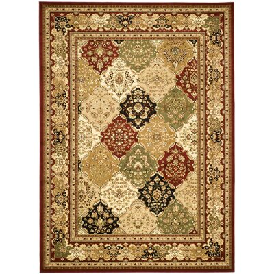 Barton Multi/Red Rug Rug Size: 9 x 12