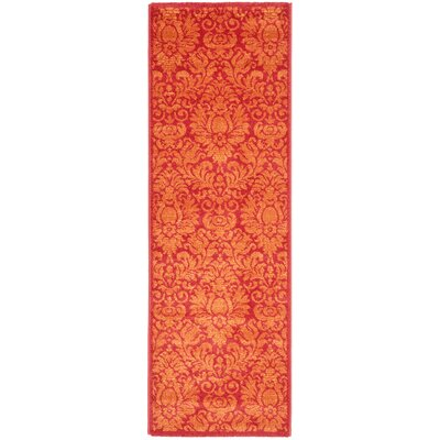 Cargin Red Rug Rug Size: Runner 24 x 67