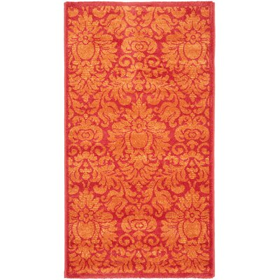 Cargin Red Rug Rug Size: 53 x 77