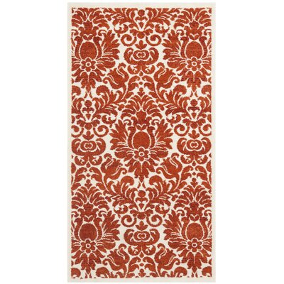 Cargin Red & Ivory Area Rug Rug Size: Rectangle 53 x 77