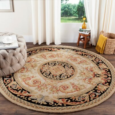 Chaplain Ivory/Gold Area Rug Rug Size: Rectangle 10 x 14