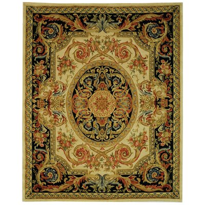 Chaplain Ivory/Gold Area Rug Rug Size: Rectangle 9 x 12