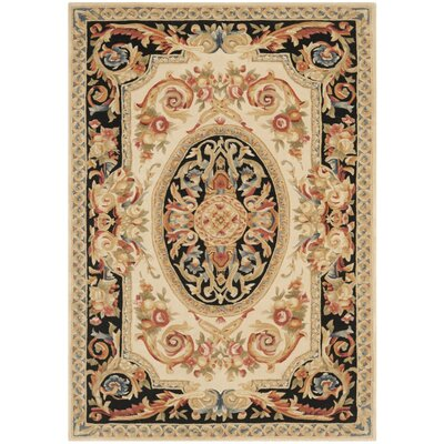 Chaplain Ivory/Gold Area Rug Rug Size: Rectangle 4 x 6